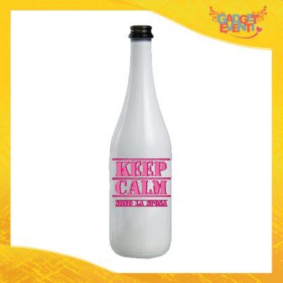 """Bottiglia da Vino Personalizzata """"Keep Calm Sposa"""" Idea Regalo Addio al Nubilato Gadget Eventi"""