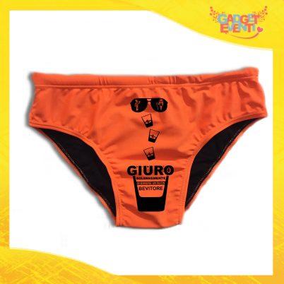 """Costume Celibato Slip Arancio Fluo Personalizzato """"Giuro Solennemente"""""""