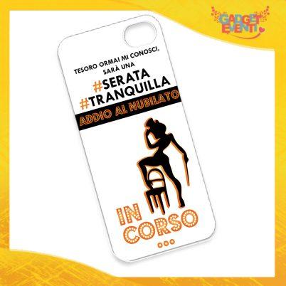 """Cover Smartphone Cellulare Tablet """"Serata Tranquilla"""" Addio al Nubilato Gadget Eventi"""