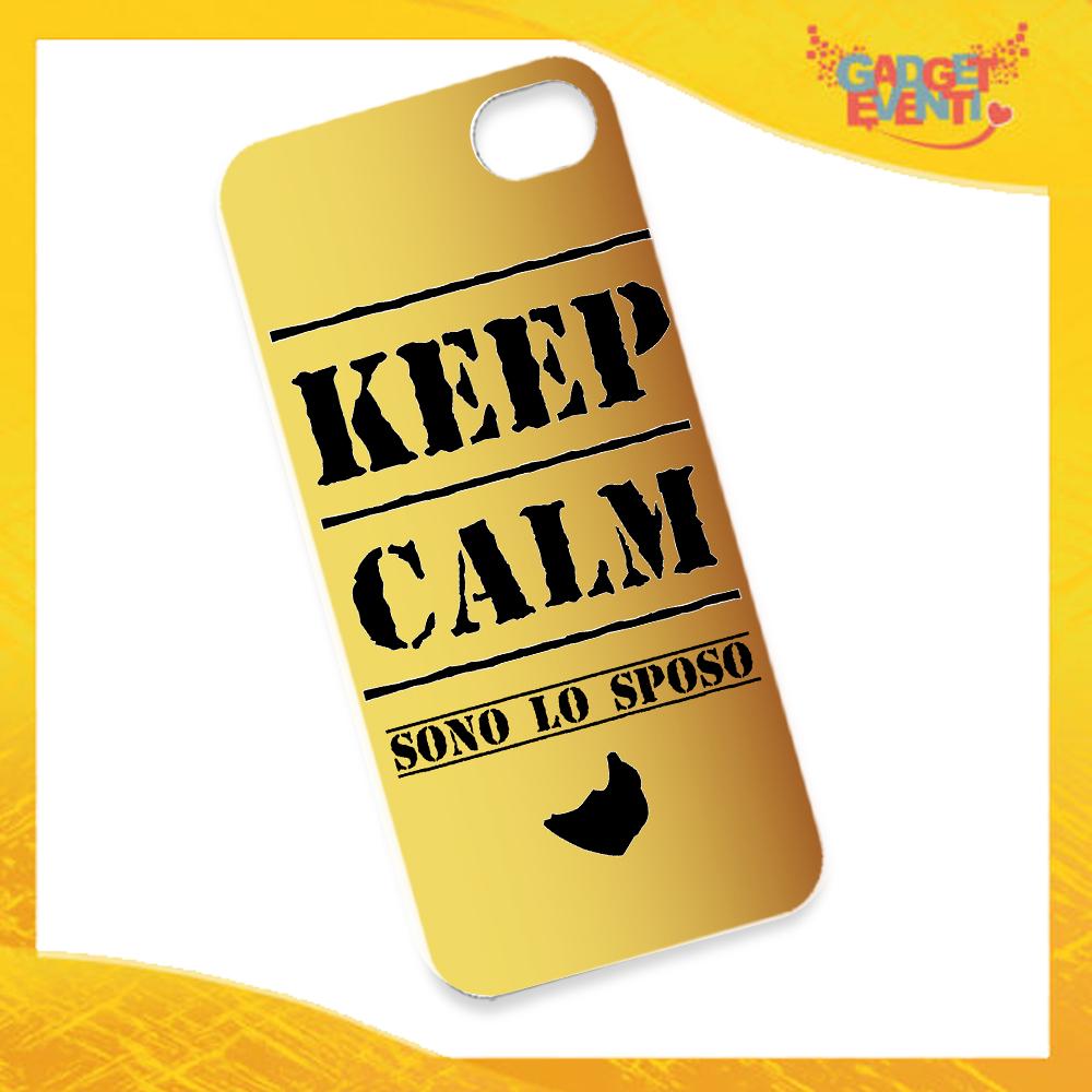"""Cover Smartphone Cellulare Tablet """"Keep Calm Sposo"""" Addio al Celibato Gadget Eventi"""