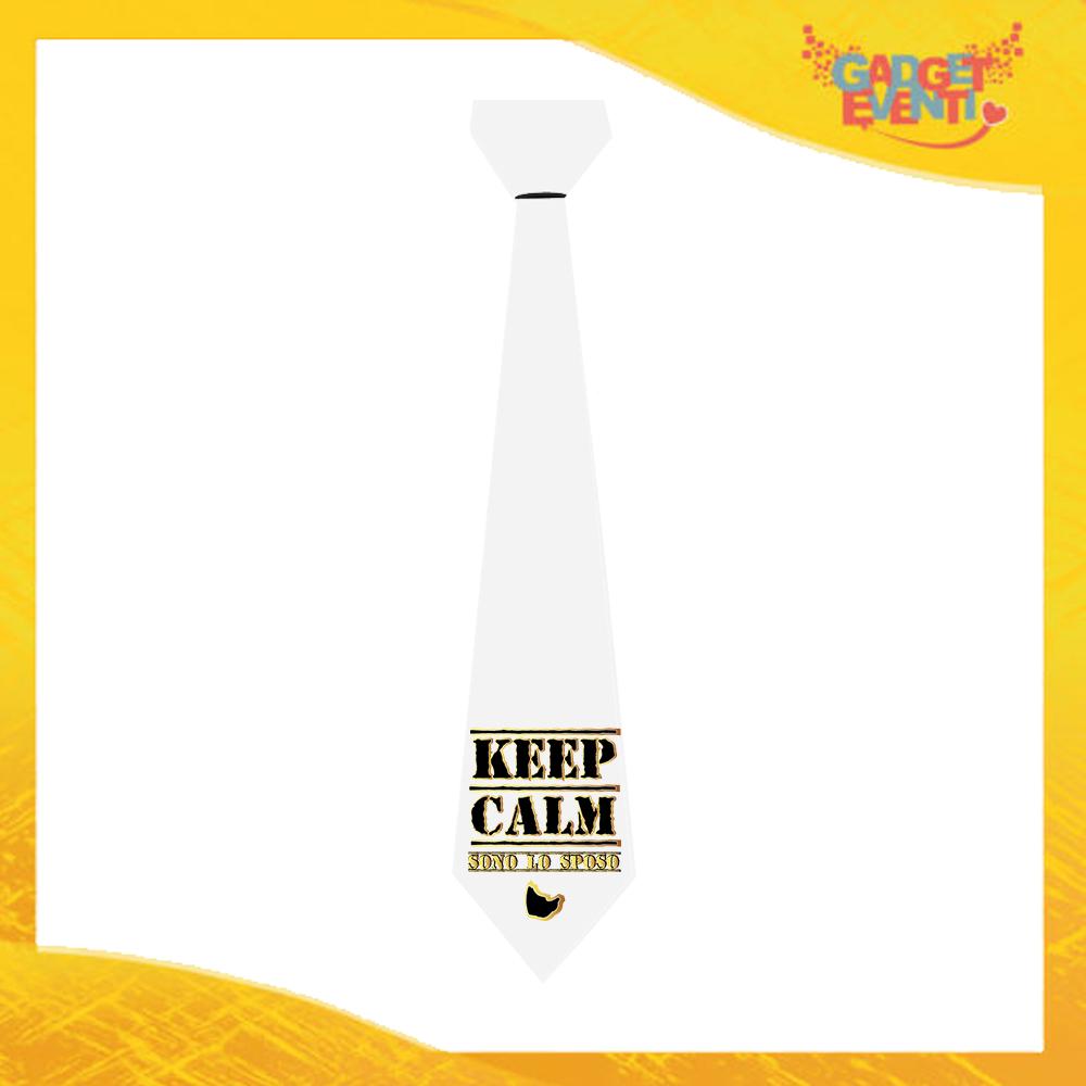 """Cravatta Personalizzata """"Keep Calm Sposo"""" Cravattino Per Addio al Celibato Idea Regalo Gadget Eventi"""