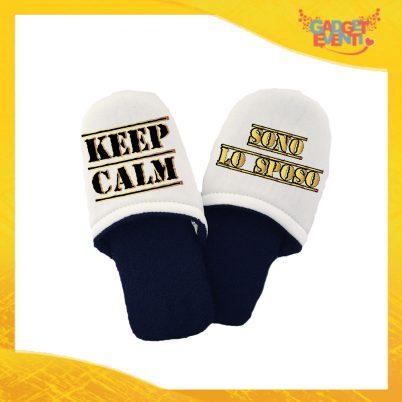 """Pantofole Uomo Personalizzate """"Keep Calm Sposo"""" Idea Regalo Per Addii al Celibato Gadget Eventi"""