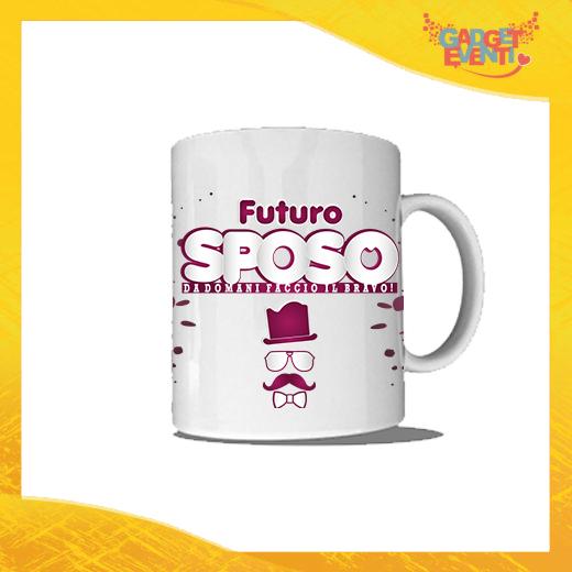 """Tazza Bianca Personalizzata """"Futuro Sposo Sosteniamolo Tutti"""" Mug Colazione Breakfast Idea Regalo Addio al Celibato Gadget Eventi"""