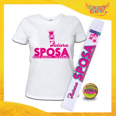 kit party addio al Nubilato FUTURA SPOSA CORONA BIANCA