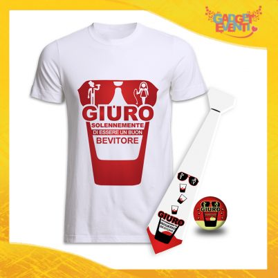 kit party addio al Celibato GIURO SOLENNEMENTE BIANCO