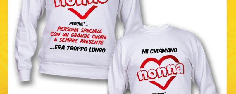 COPPIA FELPE NONNI MI HANNO CHIAMATO NONNO/A BIANCO