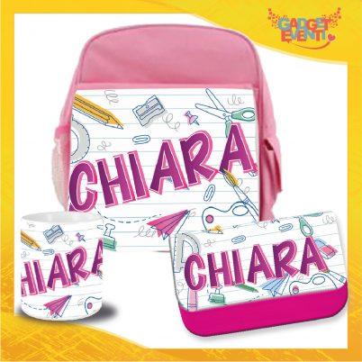 Kit Scuola bimba personalizzato con nome Back to School