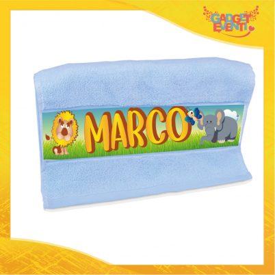 Asciugamano bimbo personalizzata con nome Safari