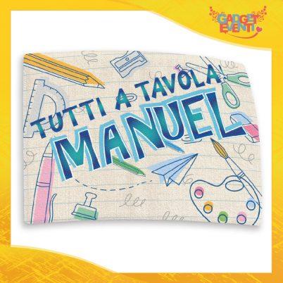 """Tovaglietta americana bimbo """"Tutti a Tavola con Nome - Back to School"""""""