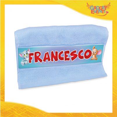 Asciugamano bimbo personalizzata con nome Topolino