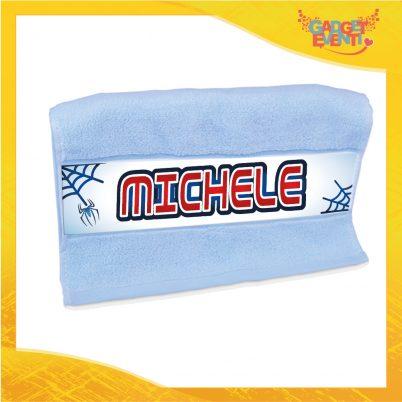 Asciugamano bimbo personalizzabile con nome Uomo Ragno