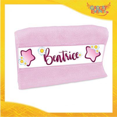 asciugamano bimba personalizzato con nome Margherite
