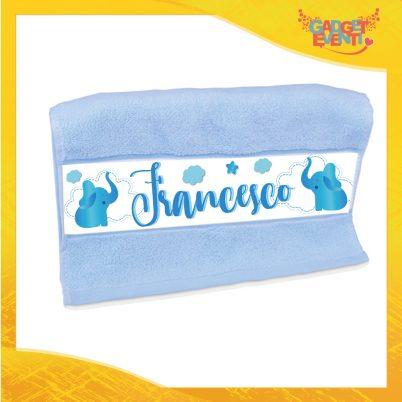 Asciugamano bimbo personalizzata con nome Elefantino