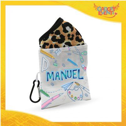 Porta mascherina bimbo personalizzato con nome Back to School