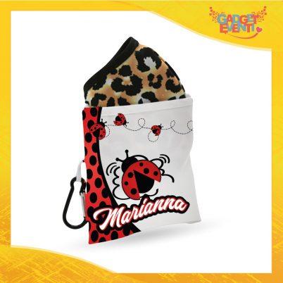 Porta mascherina bimba personalizzabile con nome Coccinelle