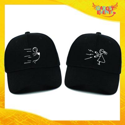 Cappellini neri coppia forza di attrazione