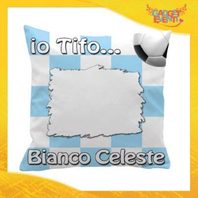 Cuscino Tifoso Personalizzabile con nome Bianco Celeste