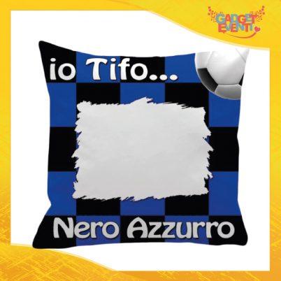Cuscini Tifoso Personalizzabile Nero Azzurro