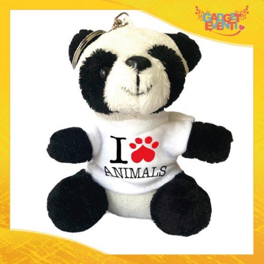Portachiavi panda personalizzabile