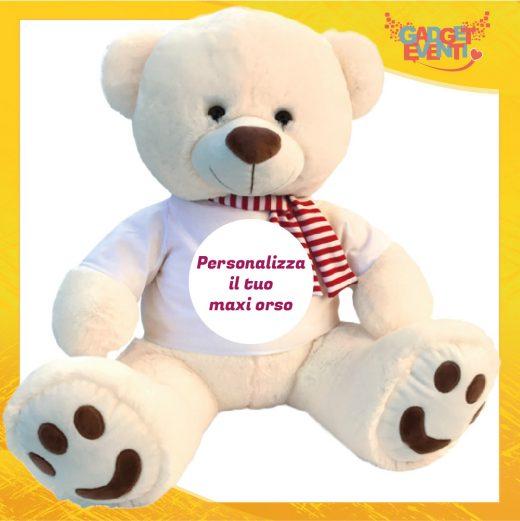 Peluche orso bianco grande personalizzabile con foto e frasi