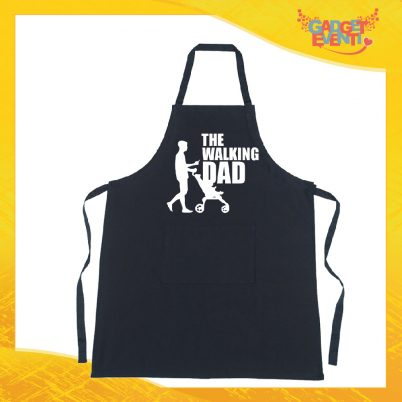 "Grembiule nero da cucina ""The Walking Dad"""