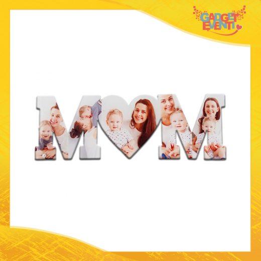 """Scritta in Plexiglass Idea Regalo Festa della Mamma """"I Love Mom Personalizzata con Foto"""""""