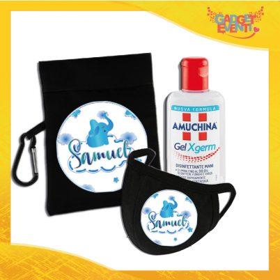 kit igienizzante bimbo personalizzato con nome elefantino