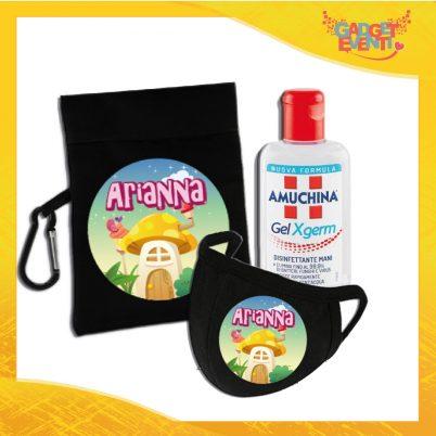 kit igienizzante bimba personalizzabile con nome funghetto
