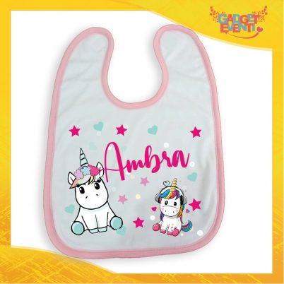 bavetto bimbo personalizzato con nome unicorno